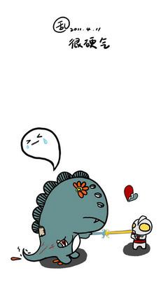 幸福是什么其实很简单,猫吃鱼,狗吃肉,奥特曼打小怪兽